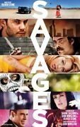 Savages Original Double Sided Movie Poster 69x102cm Oliver Stone Salma Hayek