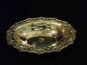 Stunning 19th C. American Sterling Silver 12 Oval Pierced Centerpiece Bowl