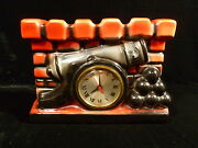 Vintage Sessions Ceramic Cannon And Cannonball Clock Andndash Circa 1940