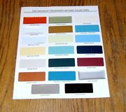 1956 Chevy Paint Chip Chart All Original Colors Usa Made