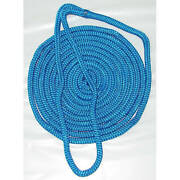 3/4 Inch X 25 Ft Blue Double Braid Nylon Mooring And Docking Line For Boats