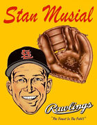 Stan Musial 1950's Rawlings Glove Advertisement Photo 11x14 St. Louis Cardinals