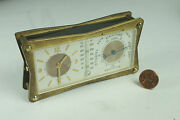 Le Coultre 1960's Weather Station Desk Alarm Clock Watch Barometer Thermometer