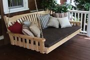 Classic Outdoor Cedar 6 Foot Fanback Porch Swing Bed 8 Stain Colors 6 Ft Swing