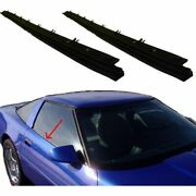 Outer Belt Moldings Window Sweep Weatherstrips Pair Set For 84-96 Corvette
