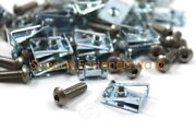 25 X Motorcycle Fairing Clips Stainless Bolts M5 5mm Zinc Spire Clip Chimney Nut