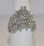 2.50ct Diamond Cluster Ring In 18kt White Gold