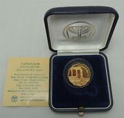 1985 Israel Holy Land Sites Capernaum Proof Coin 1/4oz Gold +box +coa