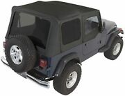 Rampage Complete Soft Top W/ Frame And Tint For 87-95 Jeep Wrangler Yj 68215 Black