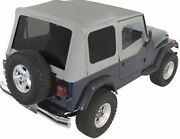 Rampage Complete Soft Top W/ Frame And Tint Fits 87-95 Jeep Wrangler Yj 68211 Gray
