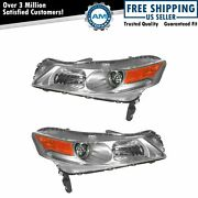 Hid Xenon Headlights Headlamps Left And Right Pair Set For 09-11 Acura Tl