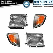 Headlights And Parking Corner Lights Left And Right Kit Set For 97-00 Tacoma 2wd 2x4