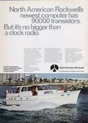 1969 North American Rockwell Hatteras Yacht Print Ad