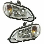 Headlights Headlamps Left And Right Pair Set For 03-18 Freightliner M-2