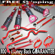 240sx S13 Suspension Camber Kits+control Arm+16 Ways Damper Coilover+sway Bar