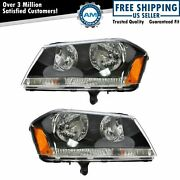 Headlights Headlamps Left And Right Pair Set New For 08-10 Dodge Avenger Rt