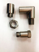 4 X O2 Bung Oxygen Sensor Angled Extender Extension Spacer M18 X 1.5 90 Degrees