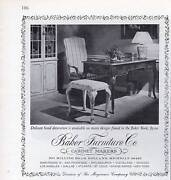 1972 Baker Vintage 70and039s Furniture Chair Table Desk Print Ad