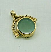 Beautiful Vintage 9ct Gold Bloodstone And Carnelion Spinner Fob / Pendant