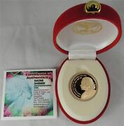 2005 Israel Naomi Shemer-first Lady Of Israeli Song Pr Coin 1/2 Oz Gold+box+coa