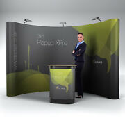 3x5 Curved Xpro Popup Exhibition Stand