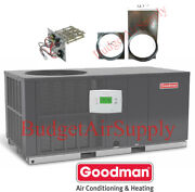 2 Ton 14 Seer Goodman A/c/electric Heatall In Onepackage Unit Gpc1424h41+heat