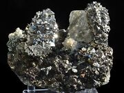 Arsenopyrite And Helvine,fluorite Are Symbiotic Mineral From Huanggang Mine,china