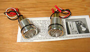 1940 - 1966 Chevy Truck Bedside Curl Hole Red Led Lights Usa Made