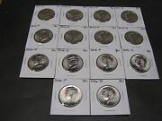 2010 2011 2012 2013 2014 2015 2016 2017 P And D Kennedys 16 Coins From Mint Rls