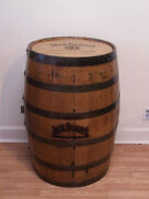 Jack Daniels Whiskey Barrel Branded And Engraved Sanded And Finished/ Free Ship