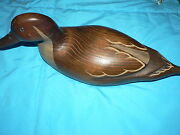 Vintage Collectible Wood Duck Decoy Hickory Nc Signed Numbered
