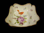 Meissen Gilt And Hand Painted Floral Porcelain Bowl – Circa 1900