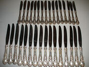 32 Pieces Sterling Silver Handle Reed And Barton Francis I Mirrorstele Knives Set