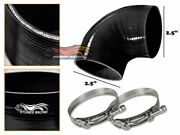 Black Silicone Elbow Coupler Hose 4 Ply 2.5 63 Mm Turbo Air Intake Intercooler