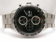 Tag Heuer Carrera Cv2010 Stainless Steel Automatic Mens Chronograph Watch