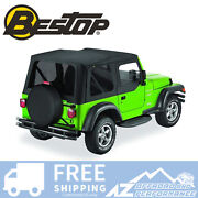 Bestop Replace A Top Half Door Skins Tint Blk Diamond For 03-06 Jeep Wrangler Tj