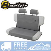 Bestop Trailmax 2 Rear Bench Seat Charcoal Fabric For 97-06 Jeep Wrangler Tj
