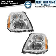 Headlight Headlamp Hid Xenon Left Lh And Right Rh Pair For 06-11 Cadillac Dts