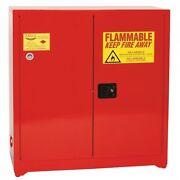 40 Gallon Red Two-door Self-close Eagle Paint And Ink Safety Cabinet