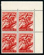 Norway Sc B24 Mi 236 Mint Never Hinged Block Of Four As Shown