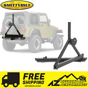 Smittybilt Src Classic Rear Bumper W/ Hitch D-rings Tire Carrier For 76-06 Jeep