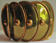 Maya Fabulous Wide Vintage Mexico Copper And Brass Armadillo Bracelet
