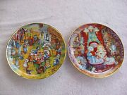 Franklin Mint A Purrfect Feast And Whisker Wuv By Bill Bell Decorative Plates