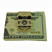 Atf Justice Doj Federal Special Agent Badge Money Clip Gold New