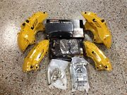 New Cadillac Cts-v 6 Piston Yellow Brembo Calipers Front And Rear W/pads Pins Zl1