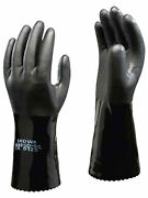 1 X Pair Showa Oil Resistant Safety Work Gloves Chemical Anti Static Pvc660esd