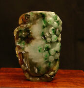 Vintage Chinese Multi - Color Jade Carved Snuff Bottle 2 1/4and039 High
