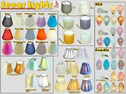 Candle Lampshade Clip On Chandelier Pendant Wall Light Shade Bulb Covers Retro