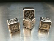 1 Oz Hand Poured 999 Silver Bullion Bar Cube By Yps - Yeagerand039s Poured Silver