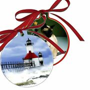 10 Custom Personalized Metal Ornaments 2 Sided Birth Memorial Holidays Photo